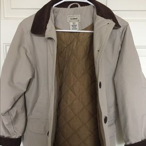 LL BEAN barn chore coat jacket PETITE SMALL